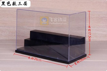 1pcs Transparent organic glass dust 3 floors doll model hand display box display cabinet 26cm