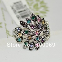 Min.order is $15 (mix order) Hot Sale Fashionable design Colorful Pteris Ring R1283