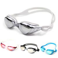 Hot Sale +Free Shipping 1pcs Adult Colorful Non-Fogging Anti UV Swimming Goggles Adjust Nose-belt Swim Glasses