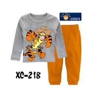 New Baby Boys Tigger Pajama Clothing Set Kids Long Sleeve T Shirt Pant Pajamas Set Children Winter Cartoon Pijama Infantil Brand