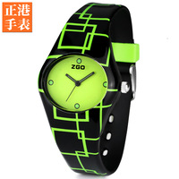 Brief girls watch neon green student table child girl waterproof watch