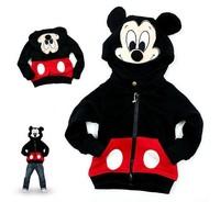 Children Mickey Hoodies Sport Outerwear Baby Girls Boys Autumn Winter Jackets & Coats Kids Cartoon Thick Jacket Outfits Retail