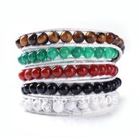 2013 2012 new style rainbow color multi crystal leather bracelet wholesale