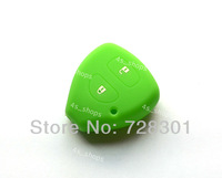 Green Silicone Key Case Cover Holder Protecting Bag Fit For Toyota Avalon Hilux Echo Yaris Tarago RAV4 Prado Corolla Camry 2 BTN