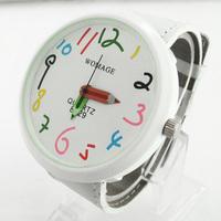 2013 new arrive watch fashion best Christmas Gifts Cute Designer Cartoon Watch For Children  Quartz Wrist Watch Free shipping