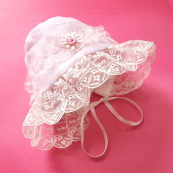 Lovely baby girls' Bowknot Cap, lace baby hat, princess Baby Cap, Princess lace cap Free shipping
