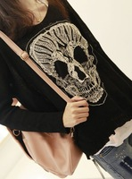 Korean Version fashion new big skulls knitted sweater, loose long sleeve blouses for women 2013  wholesale A-171