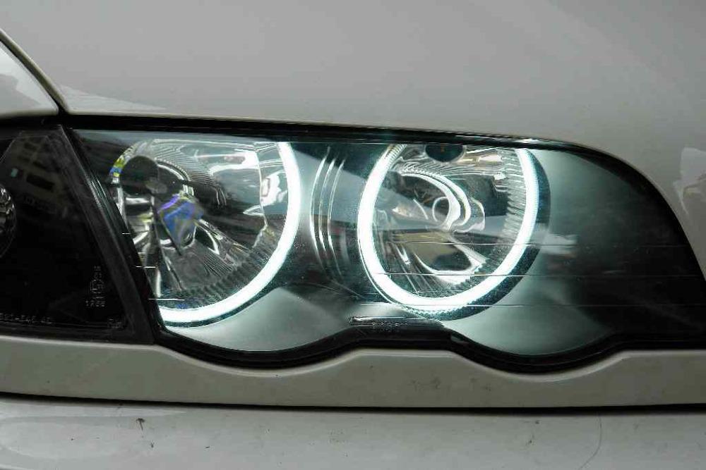 For Bmw E46 Halogen Headlights Angel Eyes Waterproof Ccfl
