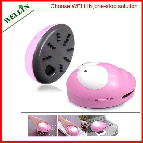 Wholesale-1pcs-Lovely mini ladybug vacuum cleaner dust collector Free shipping(China (Mainland))