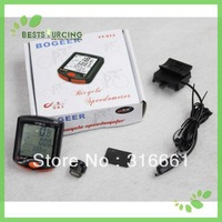 Free shipping 10pcs/lot Waterproof LCD  Backlight   bike computers  Odometer Bike Meter Speedometer bicycle computer