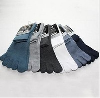 Solid color mens five finger ankle toe sock fishnet slippers socks sports athletic cheap socks free shopping wholesale
