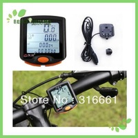 Free shipping 5pcs/lot Waterproof LCD  Backlight   bike computers  Odometer Bike Meter Speedometer bicycle computer