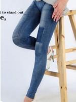 woman new fashion imitative jeans patch stretchy ninth pants leggings free shipping A420B-967