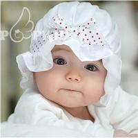 Bonnet silk satin royal princess hat bow baby sun hat baby bucket hats child hat  free Shipping