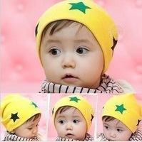 Mommas baby autumn and winter thermal the five-star pocket child hat baby hat pentastar ear protector cap  Free Shipping