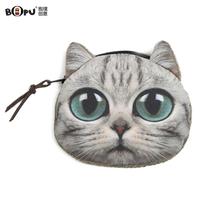 Lovely Kitty Purse Coin purse female cat coin purse small wallet female belt coin case zipper cartoon