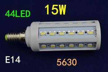 110V/220V/240V LED Corn Light E27 E14 15W 44 LED 5630 Warm White Cool White LED Bulb Lamp