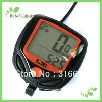 Free shipping 5pcs/lot 15 Functions Display Cycling Bike Bicycle Computer Odometer Speedometer   bicycle computer