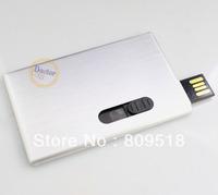 Metal Credit Card USB 2.0 Drive 1GB 2GB 4GB 8GB 16GB 32GB Thumb Stick Memory Flash Pendrive Silver