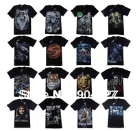 2013 Fashion Men's T Shirt 3D Wolf Print T Shirt Short Sleeve Brand Tops M~4XL Big Size Cotton Tees Free Shipping