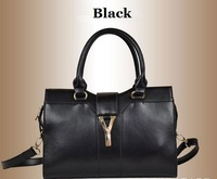 Prmotion 2014 Fashion High Quality Real Genuine Leather Y Brand Designer Satchel Handbags Tote Bag Purse for Women Free Shipping