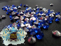 Door to door free Shipping-1/3 Carat (4.5mm) blue color Acrylic Diamond Confetti Table Scatter Crystals Wedding Favor