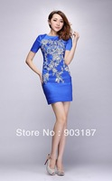 Free shipping Heavy Embroidery Beads Fashion Dress Slim Dress KC126