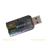 2014Hot sale Virtual 5.1 Channel Track 3D Sound Card Speaker Mic Earphone Audio Adapter #QbO