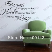Enter Leave House Removable Vinyl Wall Art Words Lettering Stickers DIY 3D House Decoration Decals Quote Dining Room