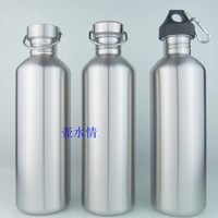 1500ml stainless steel american style outside sport pot water bottle large capacity hiking badminton