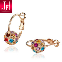 Jpf quality crystal earrings female earrings accessories seiko birthday gift