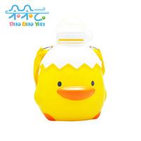 Yellow duck style baby child sports bottle 550ml belt shoulder strap 830462