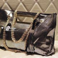 Fashion punk bag normic handmade beaded women's punk handbag genuine leather bag leather bag chain bag one shoulder handbag