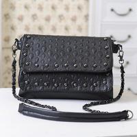 2013 skull rivet vintage bag all-match bag handbag shoulder bag messenger bag female
