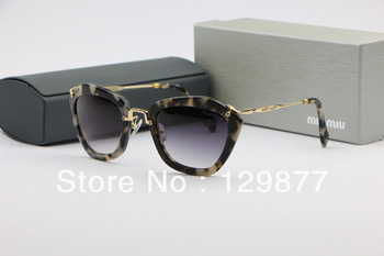 luxury designer brand Fashion small box girls all-match sunglasses smu10n fashion star style white leopard print sunglasses