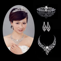 Married necklace piece set necklace drop earring accessories chain sets wedding accessories set wedding accessories