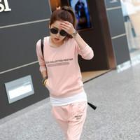 2013 spring and autumn fashion all-match casual sportswear female fashion sports set female set thin