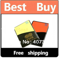 New Soccer Referee Wallet with Red Card and Yellow Car