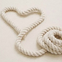 Raw beige color cotton rope,6mm width,three twisted rope,belt,20yards/lot