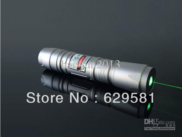 1000mw 1w Green laser flashlight Green Laser Pointers Silver shell / 5000 meters long-range / Adjus(China (Mainland))