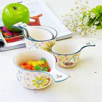 Union porcelain ceramic tableware diy utensils single handle bowl measuring cup seasoning bowl