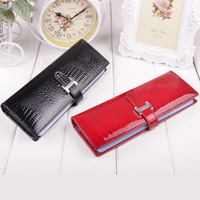 women card holders long design business card bag women's wallet large capacity leather bag 60 card places free shipping