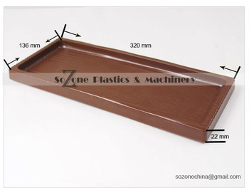 Free shipping large brown ABS plastic tray restaurant storage plate kitchen storage holder products buy it as samples