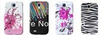 Hot sale ! Mix Colorful Zebra print Butterfly Flower Soft TPU Silicone Skin Cover Case For Samsung Galaxy S4 Mini i9190.