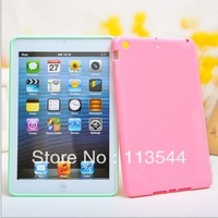 Beauty Newest candy color case For iPad Mini Hard Back Case Clear Cover Skin for iPad Mini Free Shipping