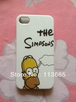 Free Shipping The Simpsons case hard plastic case for iPhone 4s