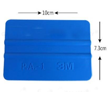 Free Shipping 3M Car Sticker Scrapers Clean-Up Scraper Blades Plastic Scraping Board Scratch Boards Blue Sdueegee 1000Pcs / Lot(China (Mainland))