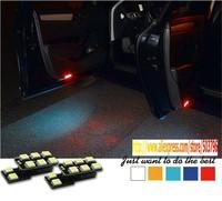 Free Shipping Original Bit 3W 5050 LED Door Light tail box lamp glove box lamp Foot Light For Audi A4 A5 A6 A7 Q7