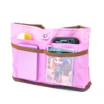 Free shipping!!! Pros and cons of dual-use multifunctional mobile phone cosmetics bag storage organize bags cosmetic bag - pink