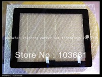 New Generic  Black Touch Screen Digitizer Front Glass For  ipad 3